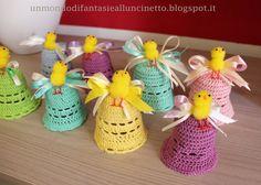 Campana all'uncinetto per Pasqua