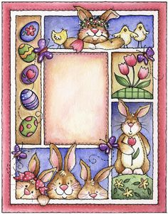 Molduras e Frames - cristina ferraz - Picasa Web Albums Crafter Tole Painting, Fabric Painting, Clip Art Pictures, Cute Clipart, Country Paintings, Easter Printables, Animal Books, Vintage Easter, Cute Images