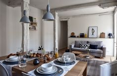 decordemon: Nordic atmosphere in Bilbao, Spain Home Staging, Bilbao, Cosy Kitchen, Dinner Room, Dining Room Inspiration, Inspiration Boards, Scandinavian Interior, Apartment Living, Decoration