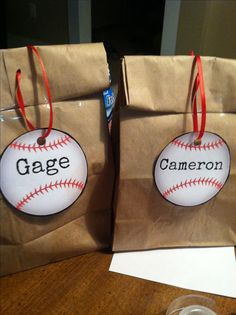 Cute baseball snack bags!