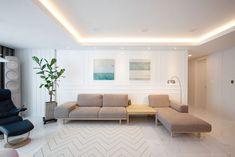 Luxury penthouses in Paris Apartment Interior, Apartment Design, Interior Design Living Room, Modern Interior, Living Room Modern, Home Living Room, Living Area, Living Room Decor, Home Remodeling