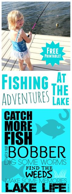 Catch More Fish Printable - Fun, free printable great for displaying in the camper or up at the lake! #ad #FishingforMemories