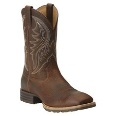 Ariat Men's Hybrid Rancher Square Toe Boot Brown Oiled Rowdy