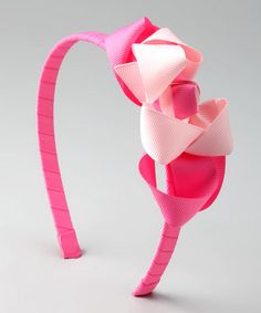 Double Pink Bow Headband