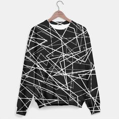 Modern Black & White Lines Sweater, Live Heroes Black And White Lines, Hoodies, Sweatshirts, Tank Tops, Live, Stylish, Modern, Sweaters, Shopping