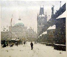 Tavik Frantesik Simon winter scene
