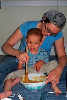 Get your child in the kitchen and have them help you bake their own cake!
