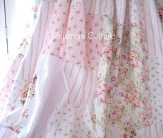 Shabby Chic Shower Curtains | Summer's Cottage (shabby chic shower curtains, bedding, etc)