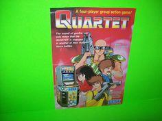 Sega QUARTET Original 1986 NOS Classic VIdeo Arcade Game Promo Sales Flyer Adv. #Sega
