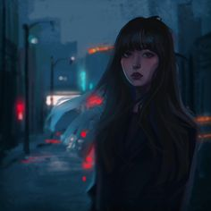 By Charles Deroo Cartoon Girl Drawing, Girl Cartoon, Art Anime, Anime Art Girl, Digital Art Girl, Cartoon Art Styles, Dark Fantasy Art, Aesthetic Anime, Cute Art