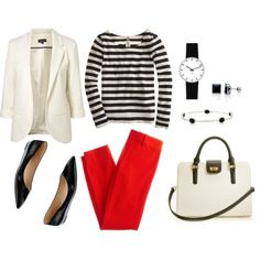 """makes me think """"Parisian""""; High Contrast, created by bluehydrangea on Polyvore"""