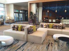 Eggshell Home - Pasea Hotel Spa Lobby White and Light Wood Beach Modern