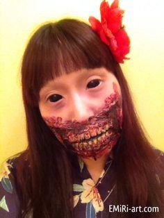 2013 Halloween Japanese doll zombie  市松人形ゾンビ (or Geisha zombie...)