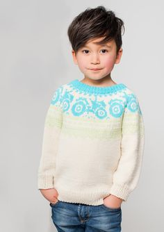 boys kids icelandic sweater, photo from sandnesgarn, lopi knitting pattern, fuzzy fluffy childs childrens lopapeysa nordic Crochet Quilt, Knit Crochet, Baby Barn, Icelandic Sweaters, Nordic Sweater, Fluffy Sweater, Fair Isle Pattern, Knitting For Kids, Kid Styles