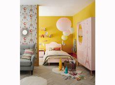 Chambre enfant jaune et rose