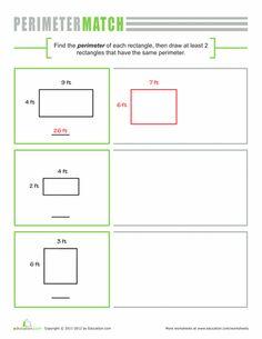 Worksheets: Perimeter Match