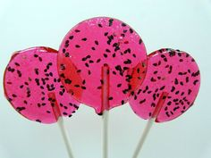 Watermelon Lime Lollipop  summer on a stick by TheGroovyBaker, $10.00