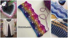 2018-sahane-orgu-modelleri Crochet Flower Patterns, Crochet Flowers, Knitting Patterns, Baby Knitting, Crochet Baby, Knitting Videos, Crochet Shoes, Baby Cardigan, Baby Booties