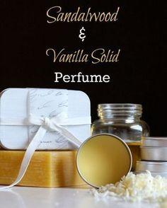 Parfum solide vanille et bois de santal à fabriquer soi-même.