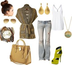 """""""Summer in Fall Colors"""" by shopahaulica on Polyvore"""
