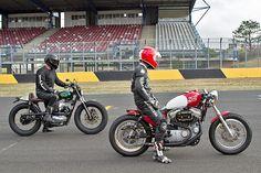 #DeusExMachina #HarleyDavidson and #Kawasaki #CafeRacer