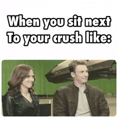 Is this supposed to Scarlett and Chris making that face at Sebastian, because those two are making the exact same face.