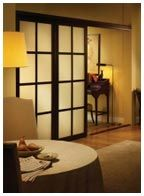 Sliding door company - fully customizable. for bedroom/living area division?