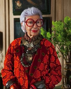 """""""Iris Apfel's Exuberant Apartment"""" in Manhattan Shot by Roger Davies for Architectural Digest 