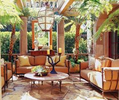 If you are having difficulty making a decision about a home decorating theme, tuscan style is a great home decorating idea. Many homeowners are attracted to the tuscan style because it combines sub… Outdoor Rooms, Outdoor Living, Outdoor Decor, Indoor Outdoor, Outdoor Lantern, Outdoor Seating, Outdoor Ideas, Style Toscan, Country Style