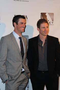 So much sexy in this picture! Cole Hamels and Chase Utley