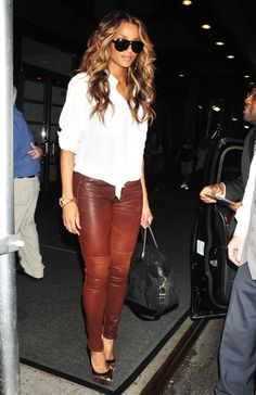 My fall must have! Cognac colored pants!