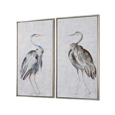 """Summer Birds 46 3/4"""" High 2-Piece Framed Canvas Wall Art Set (805 BAM) ❤ liked on Polyvore featuring home, home decor, wall art, framed wall art, bird wall art, canvas wall art, bird canvas wall art and 2 piece wall art"""