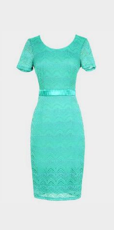 Lace Pinup Fitted Dress in Teal. I kinda want this for my graduation dress!!