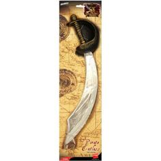 11b628ccb03c0 Smiffy's 46 cm Eyepatch and Pirate Sword Cutlass - Silver. Luvyababes