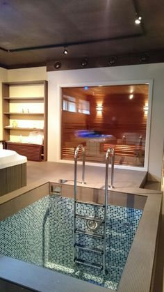 Enhancing -Comfort in Home Decorating Sauna Design, Home Gym Design, House Design, Home Spa Room, Spa Rooms, Sauna Steam Room, Sauna Room, Spa Hammam, Piscina Spa