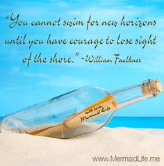 An inspiring Message in a bottle!