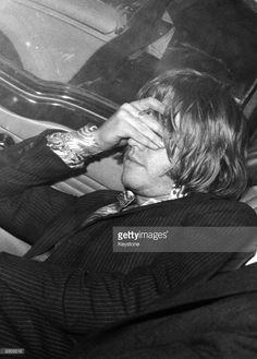 A distraught Brian Jones - guitarist with British pop group The Rolling Stones, after he was arrested at his Chelsea flat, taken to the local police station and charged with possession of cannabis under the Dangerous Drugs Act. Rolling Stones, Mississippi Fred Mcdowell, Image Roll, Local Police Station, John Lee Hooker, Soul Jazz, Delta Blues, Canned Heat, Stone Pictures