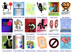 Poster examples 4 re: bullying produced in Microsoft Publisher by 7th graders, RYSS. Note: photographs and symbols downloaded from the Internet strictly for educational purposes.