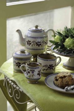 Nicholas Mosse Handcrafted Irish Table and Giftware Pottery. Kitchenware and Home Pottery. Irish Pottery, Pottery Patterns, Cuppa Tea, Kitchen Helper, Tea Art, Pottery Making, Cream And Sugar, Pottery Bowls, Clematis