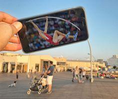 Usando o Smartphone para completar cenários com muita criatividade - Yahav Draizin utiliza seu smartphone para dar um outro sentido aos cenários em sua volta com muita criatividade. Confira!