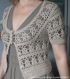 Boleros Elegant Crochet Sweaters: Crochet Circular Vest - Free pattern with or without sleeves! Site is in Spanish but has diagrams for a bunch of different crochet projects. Gilet Crochet, Crochet Poncho Patterns, Crochet Jacket, Crochet Cardigan, Crochet Shawl, Crochet Stitches, Knit Crochet, Crochet Sweaters, Crochet Shrugs