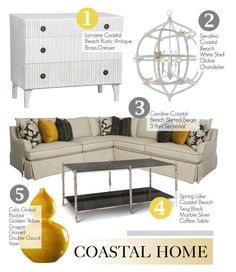 """Coastal Home Decor"" by kathykuohome ❤ liked on Polyvore featuring interior, interiors, interior design, home, home decor, interior decorating, homedecor, Coastal and beachhome"