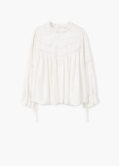 Blonda panel blouse | MANGO