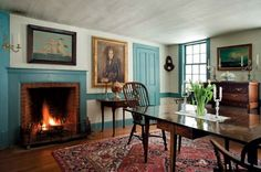 Authentic materials and colors were used to restore this mid-19th-century house. Photo: Eric Roth