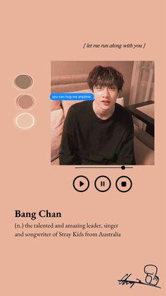 I made this Bangchan wallpaper bc. I love Chan lol