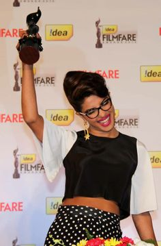 From Team Priyanka: Priyanka Chopra chose the Geeky Chic avatar at the filmfare press meet. Must say, she has taken fashion to another level!