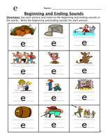 Beginning Ending Sounds Worksheet   Initial & Final Sounds ...