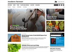 """Modern Farmer says:  """"There has been a movement afoot in recent years to make connections between what we eat, how we live and the planet. Modern Farmer exists for people who want to be a part of that movement—it is for window-herb growers, career farmers, people who have chickens, people who want to have chickens and anyone who wants to know more about how food reaches their plate."""""""