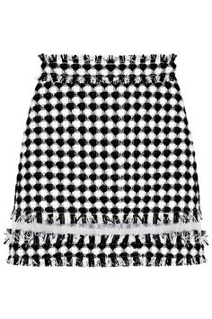 The 20 Best Gingham Pieces to Buy This Spring -  MSGM organza-paneled gingham tweed mini skirt, $375; at Net-a-Porter