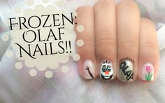Frozen: Olaf Nails | CuteNailPolishArt